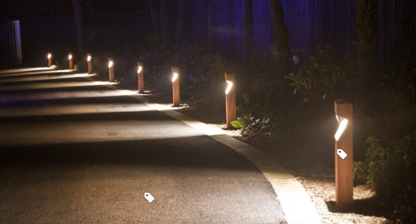 Decorative light bollards for your garden path